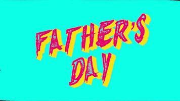 texte d'animation fête des pères sur hipster et fond grunge video