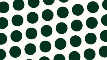 Motion geometric small gradient green circles, retro abstract background video