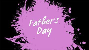 animação de introdução de texto para o dia dos pais em fundo rosa e pincel