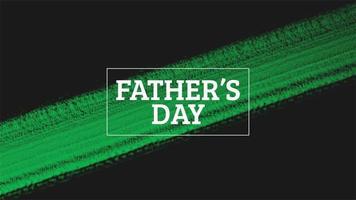 animação intro texto dia dos pais sobre moda verde e fundo de pincel