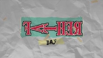 animação texto dia dos pais em fundo hipster e grunge
