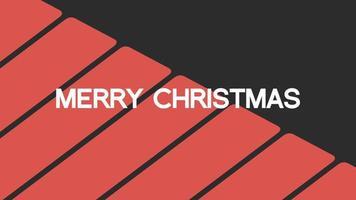 animação texto de introdução feliz natal em fundo de moda negra e minimalismo com listras geométricas vermelhas