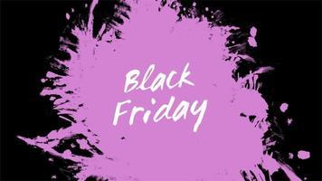 texto de introdução de animação black friday sobre moda roxa e fundo de pincel video
