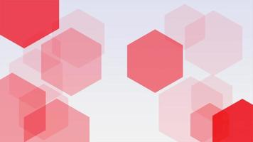 Motion intro geometric red shape, abstract background video