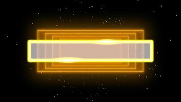 animação neon abstratos quadrados amarelos, fundo do movimento disco