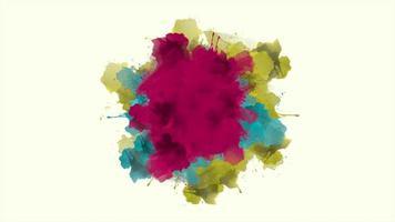 animação abstratos salpicos coloridos, fundo do movimento disco
