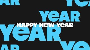 texto de animação feliz ano novo em fundo de moda negra e minimalismo video