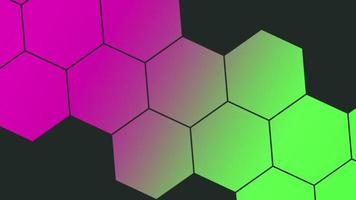 Motion abstract geometric colourful honeycomb, retro background video