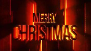 animação texto feliz natal e movimento linhas abstratas vermelhas, fundo abstrato do feriado