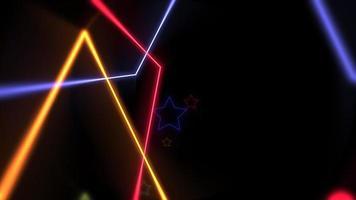 movimento, estrelas coloridas de néon laser, fundo abstrato