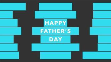 animação texto dia dos pais em fundo preto de moda e minimalismo com linhas azuis