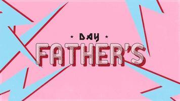 animação texto dia dos pais em fundo hipster e grunge com raios azuis retrô