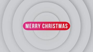 Animation intro text Merry Christmas on fashion and club background with gradient circles video