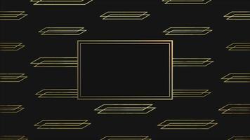 abstrakt guld och lyxig geometrisk form med ram, retro bakgrund video