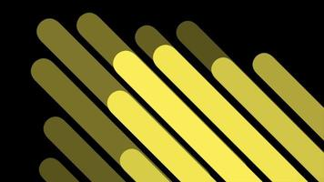 Motion abstract geometric yellow lines, retro background video