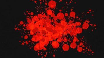 tache rouge abstraite de mouvement et éclaboussures, fond grunge coloré video