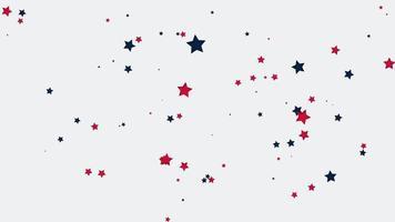 estrelas animadas caindo no fundo do feriado, dia da independência dos EUA video