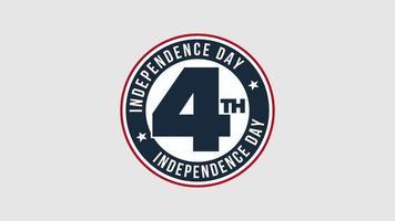 closeup animado texto 4 de julho sobre fundo de feriado, dia da independência dos EUA