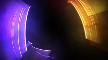 Motion colorful neon lines abstract background video
