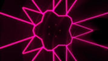 movimento abstrato néon forma geométrica no espaço, fundo do clube de laser video