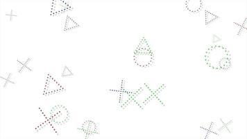 movimento formas geométricas abstratas, fundo colorido de memphis video