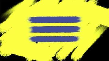 movimento pincéis amarelos e azuis abstratos, fundo colorido do grunge video