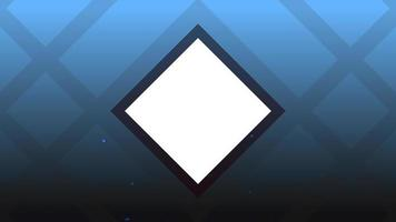 Animation abstract neon blue squares, motion disco background video