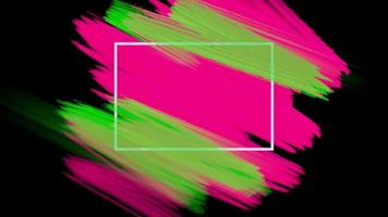 movimento pincéis rosa e verdes abstratos, fundo colorido do grunge