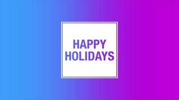 animação texto boas festas em fundo gradiente roxo moda e minimalismo video