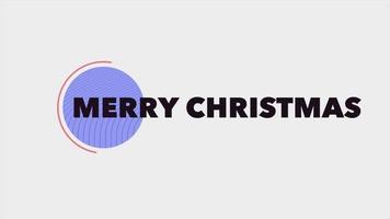 animação texto de introdução feliz natal em fundo de moda branca e minimalismo com círculo roxo
