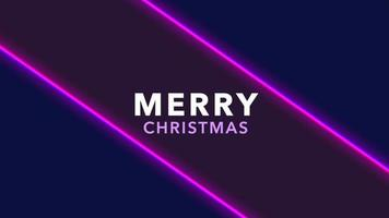 Animation intro text Merry Christmas on fashion and club background with glowing purple lines video