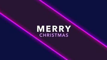 animação texto de introdução feliz natal sobre fundo de moda e clube com linhas roxas brilhantes