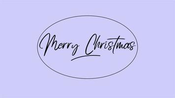 animação texto de introdução feliz natal sobre fundo azul fashion e minimalismo com moldura
