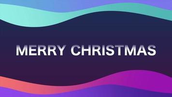 animação texto de introdução feliz natal na moda e plano de fundo do clube com ondas gradientes