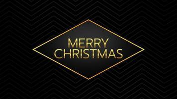 texto de introdução de animação feliz natal em fundo de moda negra e minimalismo com forma geométrica