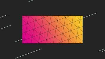 movimento abstrato geométrico colorido forma e linhas, fundo retrô video