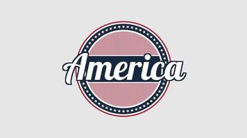 amérique de texte agrandi animé sur fond de vacances, jour de la nation des états-unis video