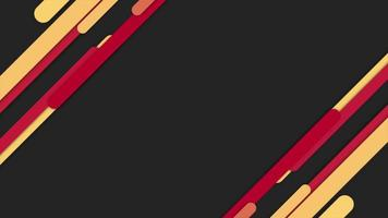 Motion intro geometric yellow and red lines, abstract background video