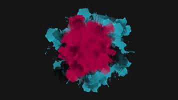 Animation abstrakte bunte Spritzer, Bewegungsdisco Hintergrund
