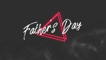 animação texto dia dos pais sobre fundo de moda e clube com triângulo brilhante