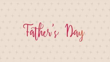 animação texto dia dos pais sobre fundo de moda marrom e minimalismo com cruzes geométricas
