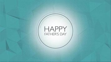 animação texto dia dos pais sobre fundo azul de moda e minimalismo com círculo geométrico
