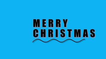 animação texto de introdução feliz natal sobre fundo azul de moda e minimalismo com ondas