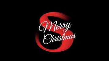 animação texto de introdução feliz natal em moda vermelha e fundo de pincel