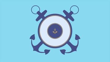 animação texto mar militar carimbo ob fundo azul