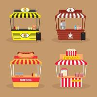 Set of 4 Various Booth vector
