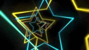 movimiento, colorido, neón, estrellas, extracto, plano de fondo video