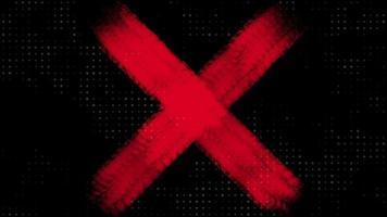 movimento pincéis vermelhos abstratos, fundo colorido do grunge video