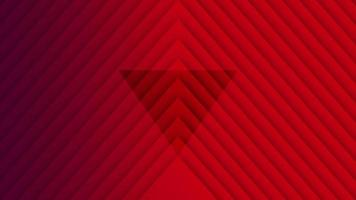 Motion geometric gradient red stripes, retro abstract background video