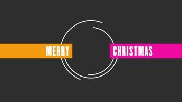 texto de animação feliz natal em fundo de moda negra e minimalismo com linhas